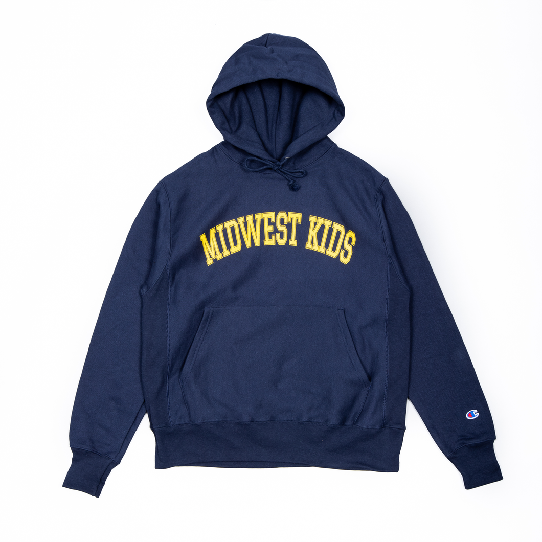 Midwest Kids Hooded Sweatshirt (Navy)