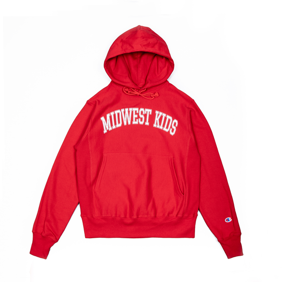 Midwest Kids RW Hooded Sweatshirt (Scarlet)