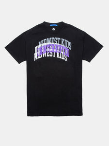 UNINTERRUPTED X MIDWEST KIDS ARCH LOGO VENICE TEE BLACK
