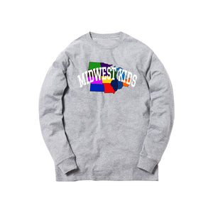 MWK Midwest States L/S Tee (Grey)