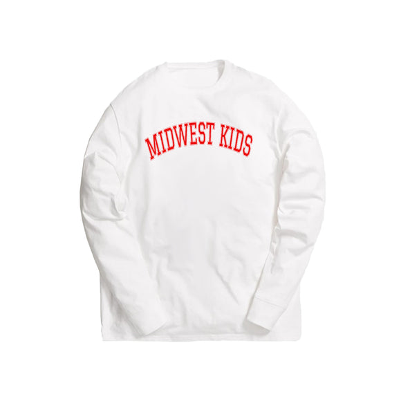 Midwest Kids L/S Tee (Red)