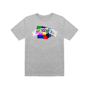 MWK Midwest States Tee (Grey)
