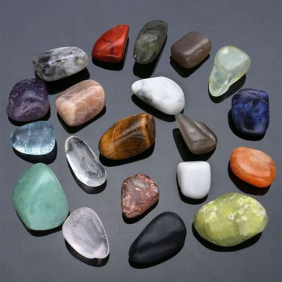 20 Piece Natural Chakra Tumbled Stone for Home Decor
