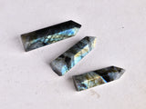 1pc Natural Crystal Labradorite Hexagonal Tower for Healing