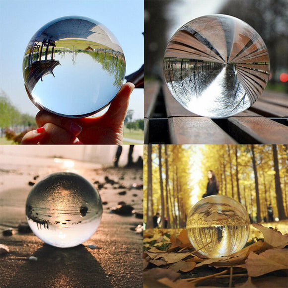 Clear Glass Crystal Ball - Perfect as a Photography Prop or Decor Item