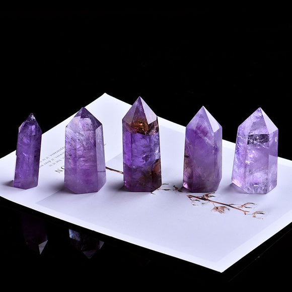 1pc Natural Amethyst Hexagonal Tower for Healing