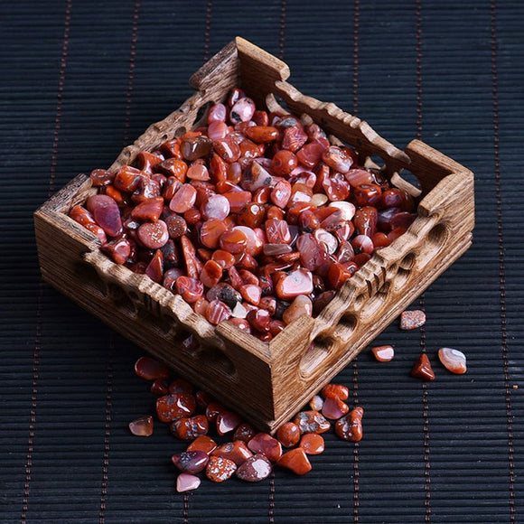 50g Natural Red Agate Gravel for Healing