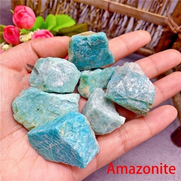 1pc Natural Raw Amazonite for Healing 30-50g