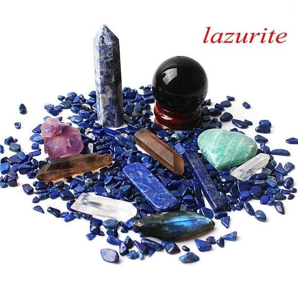 1 Lapis Lazuli Set Includes: Obelisk, Sphere, Wand, Heart, Gravel