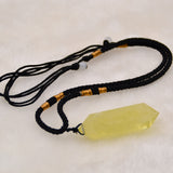 Natural Citrine Quartz Crystal Pendant