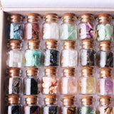 1 Set 40pcs Natural Gravel Crystals in Wishing Bottles - Perfect for Healing
