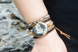 Natural Fossil Handmade Leather Bohemian Bracelet