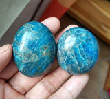 Hidden JuJu - Apatite is known for its positive energy and empowering nature to help individuals achieve their goals. Apatite clears away negative energy, self-doubt, confusion, and apathy, stimulating personal growth.
