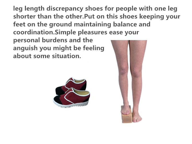 Leg length discrepancy shoes sample