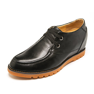 Casual Cowhide Elevator Shoes For Men With Genunie Leather