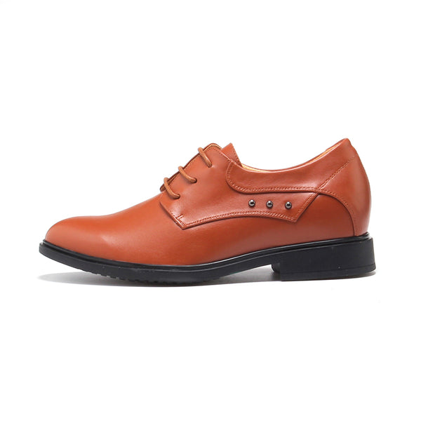 Personality Trend Cow Leather Lace-up Man Height Boosting Shoes