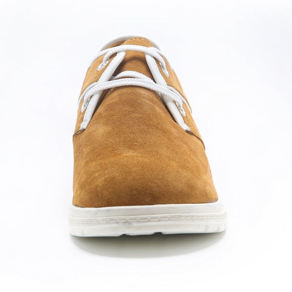 JGL Hot sale Casual Suede Lace-Up Rubber Sole Men's Elevator Shoes