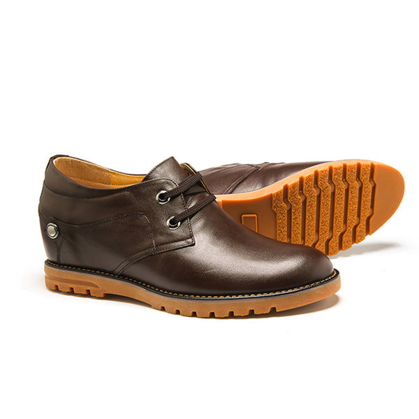 Fashion Casual Cowhide Men's Elevator Shoes With Genunie Leather