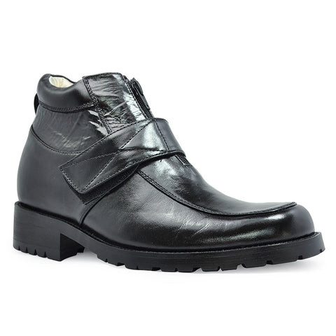 Genuine Leather Men's Heel Comfortable Elevator Boots