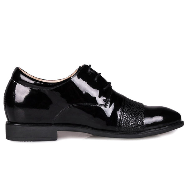 Cow leather Men Low Heel Comfort Oxfords Elevator Shoes