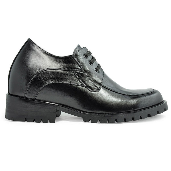 Genuine Leather Comfortable Men's Dress Elevator Black Shoe Boots