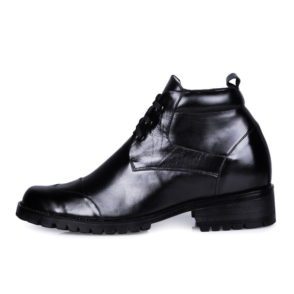 Genuine Leather Heel Comfortable Elevator Tall Male Boots