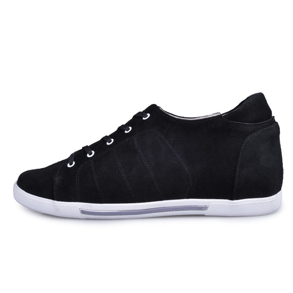 Suede Leather Men Casual Elevator Shoes