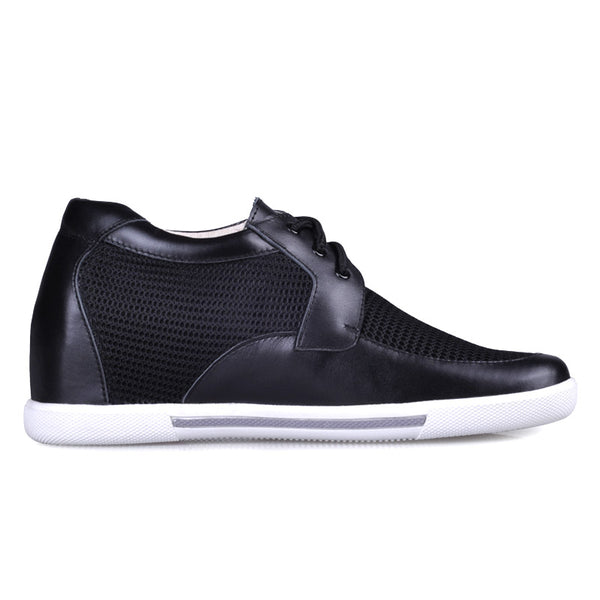 Cow Leather Net Cloth Men's Elevator Shoes For Man