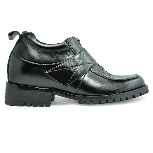 Genuine Leather Men's Heel Comfortable Elevator Boots for Man