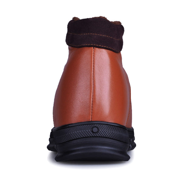 Elevator shoes handmade with great genuine leather with wool lining