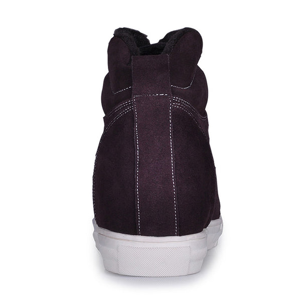 Men's wool lining elevator shoes keep you warm and comfortable