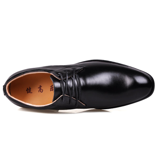 Men Low Heel Comfort Oxfords Elevator Shoes