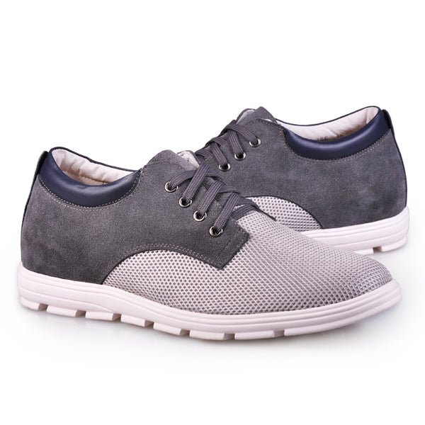 JGL Dropshipper Suede Leather Nets Elevator Shoes For Men