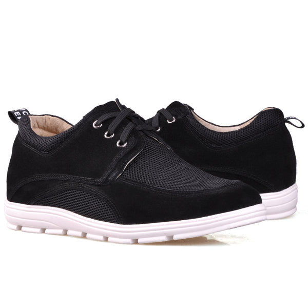 Suede Leather Net Cloth  Elevator Shoes For Men