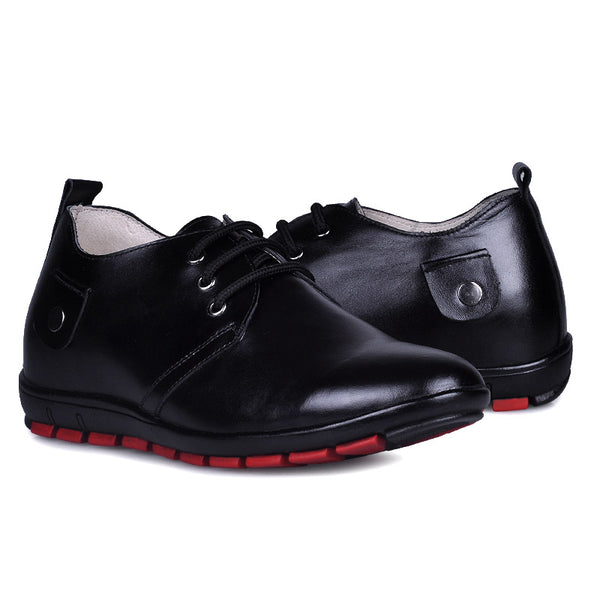 JGL Handmade genuine leather black elevator shoes uk
