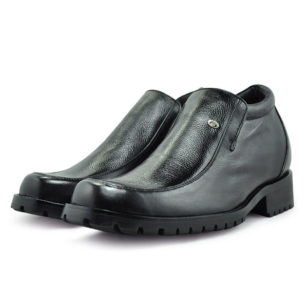 Cow Leather Rubber Sole Men Height Increasing Boots