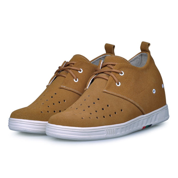 Genuine Leather Men's Cusual Elevator Shoes