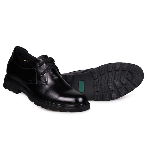 Wholesale Retail 2.75 Inches Above Low Heel Cow Leather Elevating Shoes for Man
