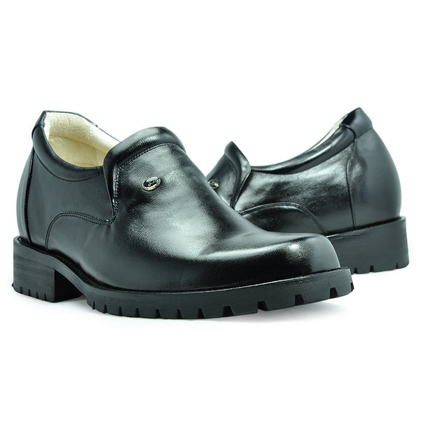 Genuine Leather Men's Heel Elevator Comfortable Shoes for Men