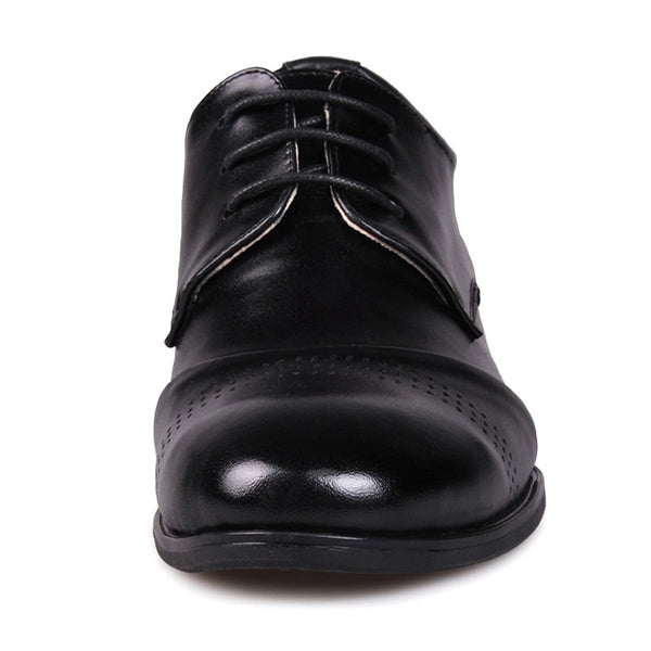 Drop-shopping Leather Men Low Heel Comfort Oxfords Elevator Shoes for Man