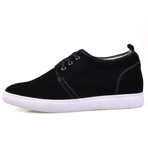 Fashion and comfortable increase height hidden heel shoes for men