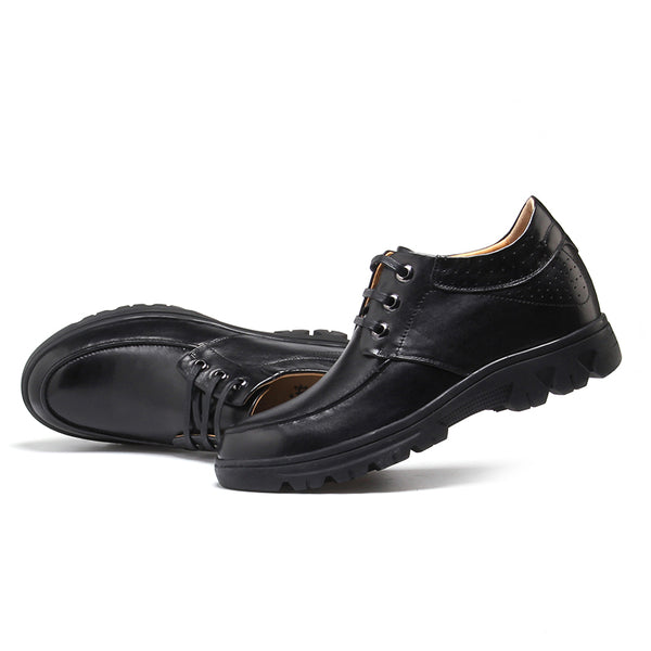 Fashion Cow Leather Comfortable Height Increase shoes that make men taller
