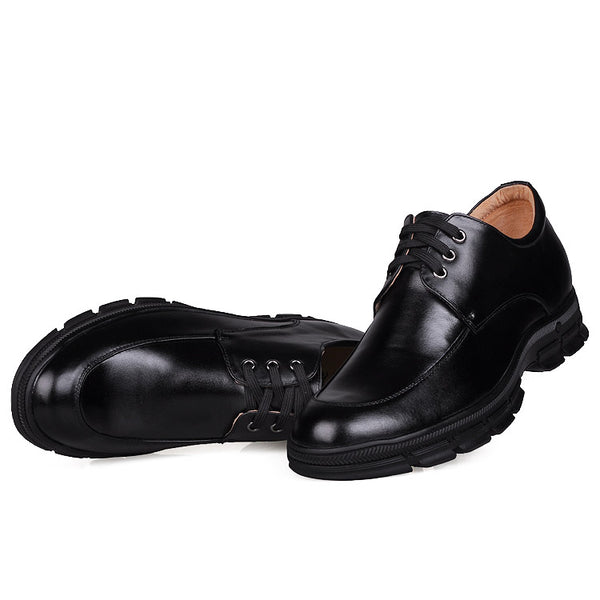 Drop Shopping Men's Low Heel Cow Leather Elevator Shoes for Man