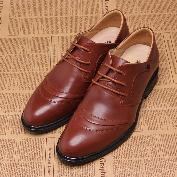 Special Offer Cow Leather Shoes mens height increasing shoes