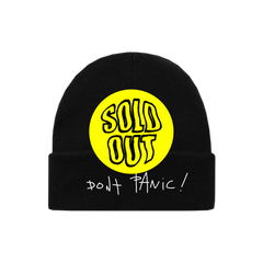 DON'T PANIC EMBROIDERED BEANIE