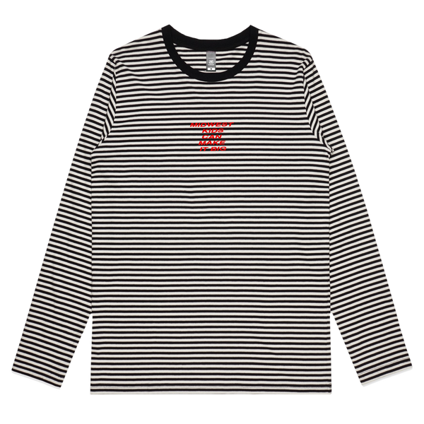 MIDWEST KIDS EMBROIDERED STRIPE LONG SLEEVE