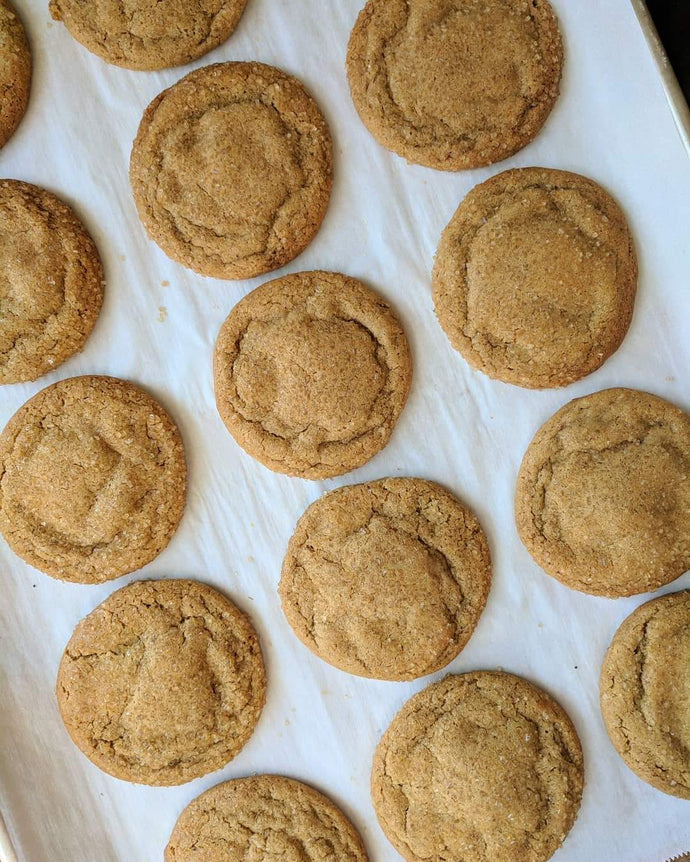 Candied Ginger Molasses Cookies (quantities of 6)