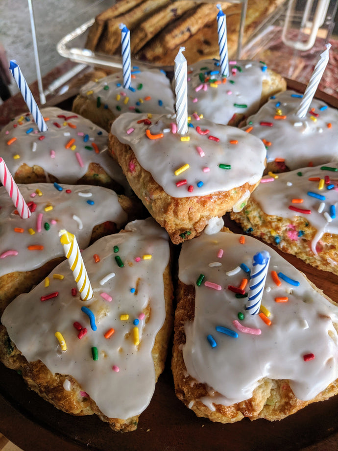 Happy Birthday Cake Scones (3 pack)