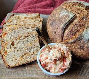 Roasted Red Pepper Pimento Cheese Sourdough