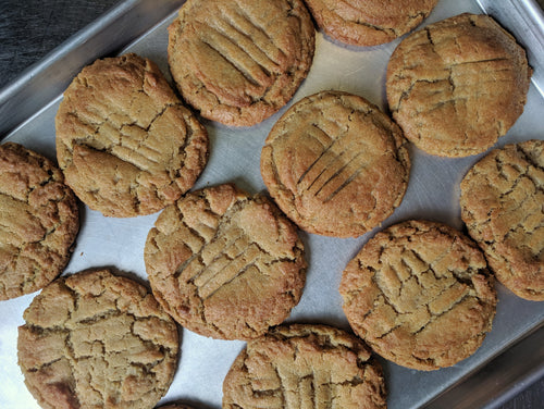 Honey Roasted Peanut Butter Cookies (quantities of 6)